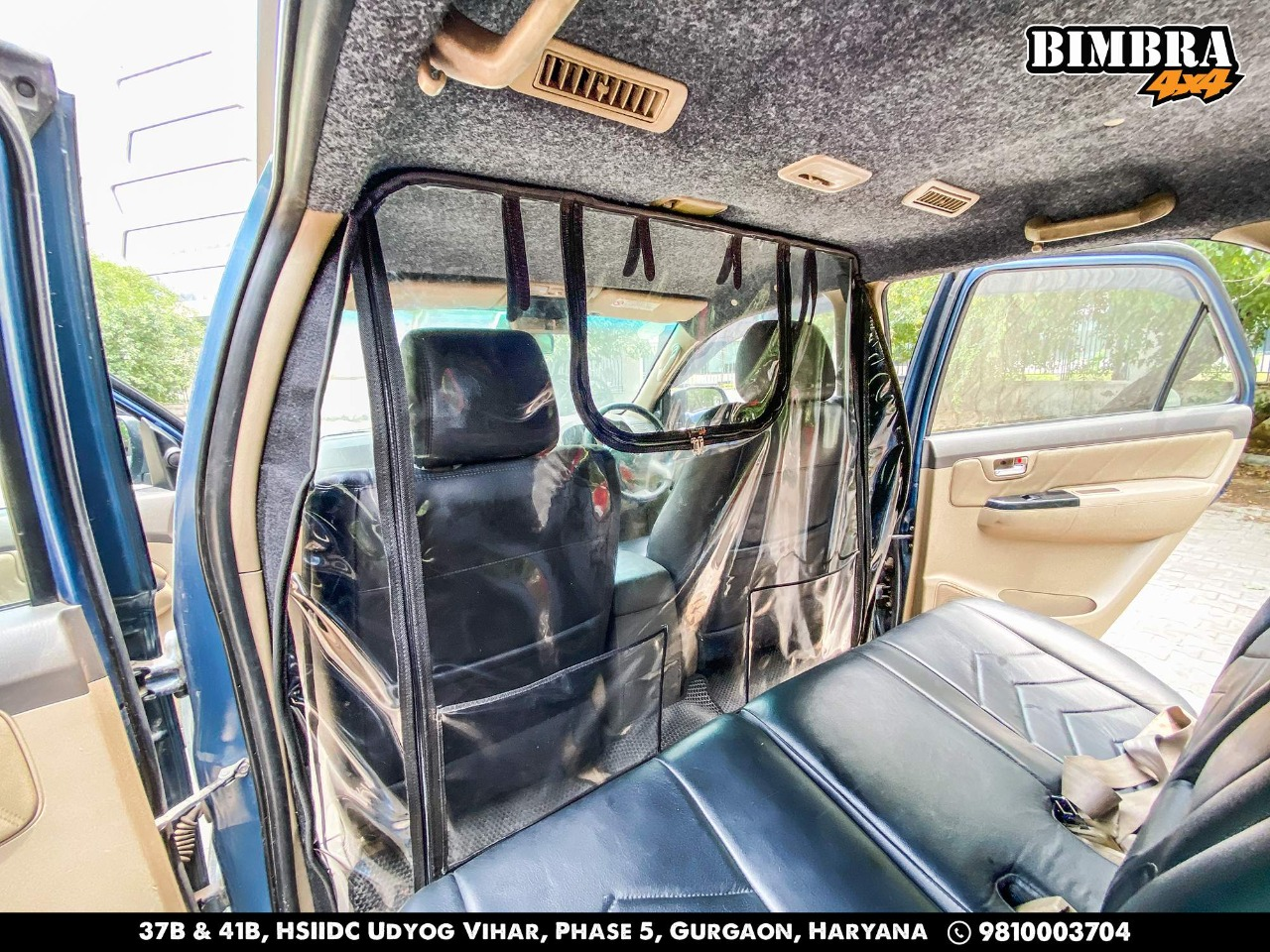 Vehicle COVID Divider Curtain